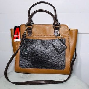 NEW Leather Aurielle Handbag/purse crossover opt